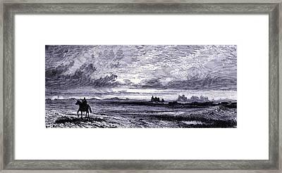 Laramie Plains  Framed Print by American School
