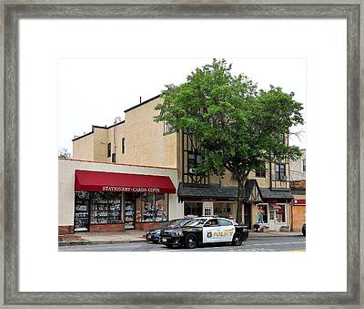 Larchmont Police On Patrol Framed Print by Kurt Von Dietsch