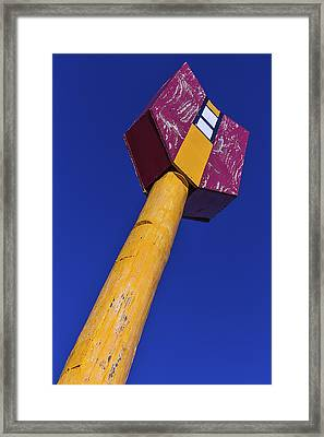 Large Arrow Sign Framed Print by Garry Gay