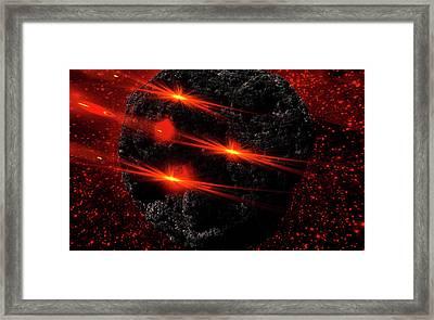 Large Asteroid Framed Print by Ivanoel Art