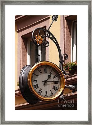 Large Clock Framed Print by Helmut Meyer zur Capellen