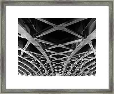 Large Girder Bridge Framed Print by Yali Shi