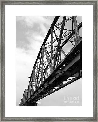 Large Old Railway Bridge Framed Print by Yali Shi