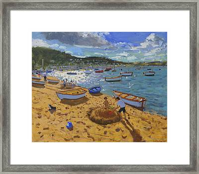 Large Sandcastle Teignmouth Framed Print by Andrew Macara