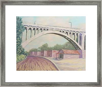 Larimer Ave Bridge Pittsburgh Framed Print by Joann Renner