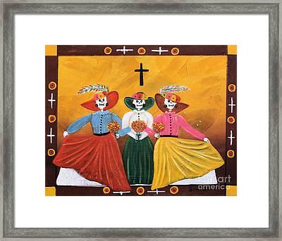 Las Catrinas Framed Print by Sonia Flores Ruiz