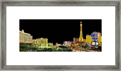 Las Vegas At Night Framed Print by Az Jackson