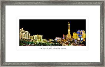 Las Vegas At Night Poster Print Framed Print by Az Jackson