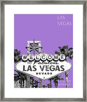 Las Vegas Sign - Purple Framed Print by DB Artist