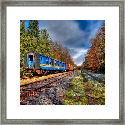 Last Bit Of Autumn On The Tracks Framed Print by David Patterson