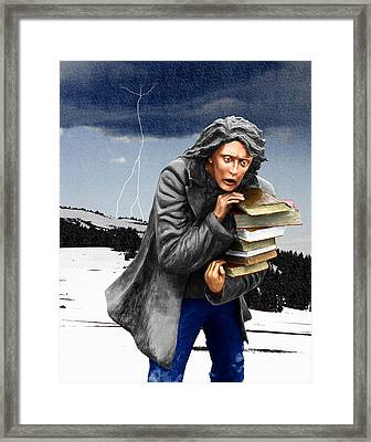 Last Books Of Knowledge Framed Print by Keith Dillon