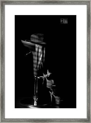 Last Call In Black And White Framed Print by Tom Mc Nemar