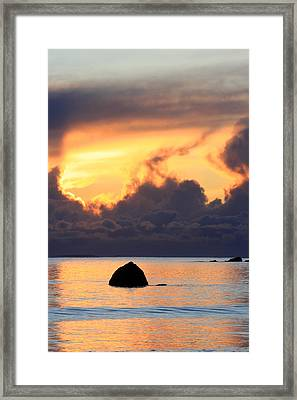 Last Flame Marking The Passing Of A Loved One Framed Print by Pierre Leclerc Photography