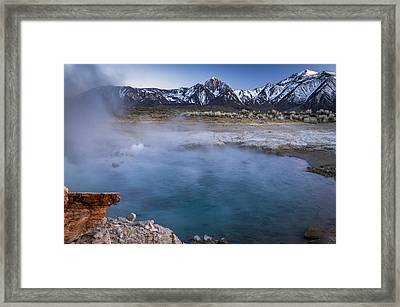 Last Light At Blue Lagoon Framed Print by Cat Connor