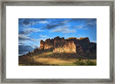 Last Light At The Superstitions  Framed Print by Saija  Lehtonen