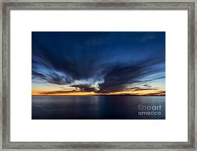 Last Light Framed Print by Eddie Yerkish
