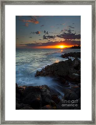 Last Light Over Paradise Framed Print by Mike  Dawson