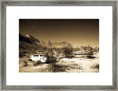 Last Parking Space Framed Print by Patrick  Flynn