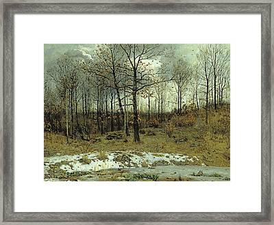 Last Snow At Weimar Framed Print by Karl Buchholz