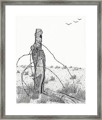 Last Standing Framed Print by Pat Price