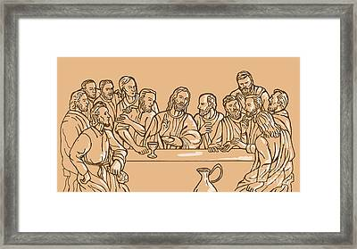 last supper of Jesus Christ Framed Print by Aloysius Patrimonio