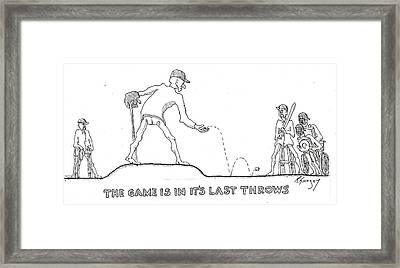 Last Throes Framed Print by R  Allen Swezey