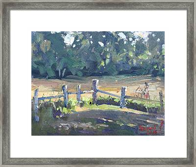 Last Touches Of Sunlight Framed Print by Ylli Haruni