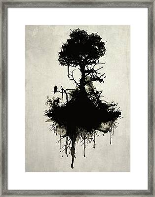 Last Tree Standing Framed Print by Nicklas Gustafsson