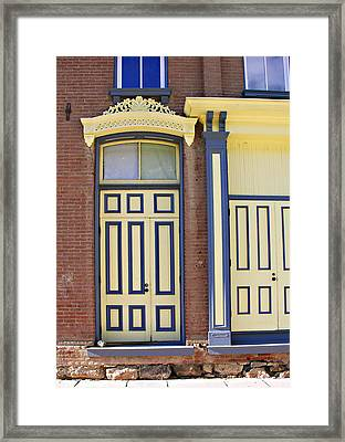 Late 1800s Door Framed Print by Marilyn Hunt