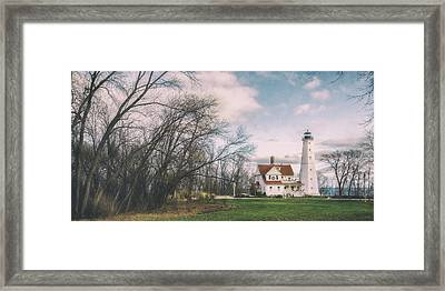 Late Afternoon At The Lighthouse Framed Print by Scott Norris