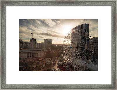 Late Afternoon In Centenary Square Framed Print by Chris Fletcher