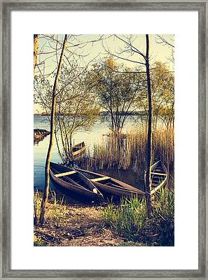 Late Afternoon On The Lake II Framed Print by Marco Oliveira