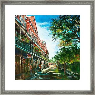 Late Afternoon On The Square Framed Print by Dianne Parks