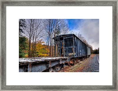 Late Autumn Along The Tracks Framed Print by David Patterson