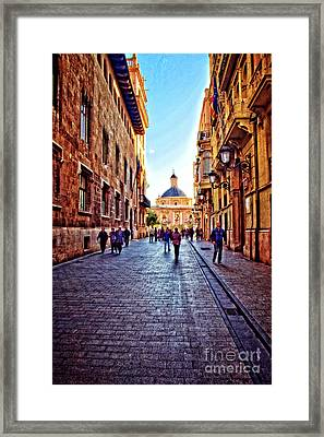 Late Morning In Winter - Valencia Framed Print by Mary Machare
