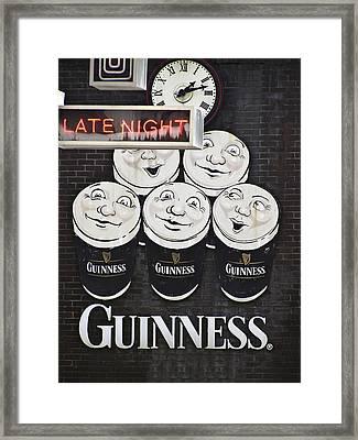 Late Night Guinness Limerick Ireland Framed Print by Teresa Mucha