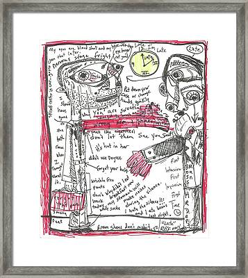 Late Framed Print by Robert Wolverton Jr