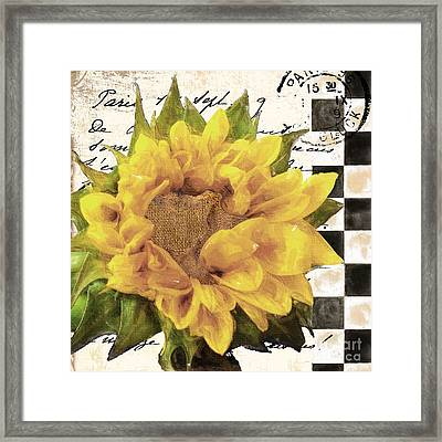 Late Summer Yellow Sunflowers Framed Print by Mindy Sommers