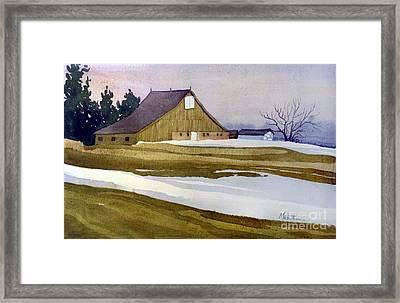 Late Winter Melt Framed Print by Donald Maier