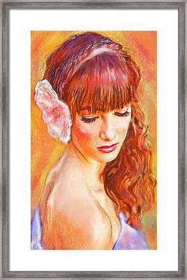 Latina Beauty Framed Print by Jane Schnetlage