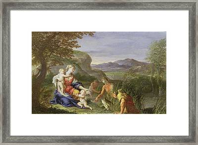 Latona And The Frogs Framed Print by Francesco Trevisani