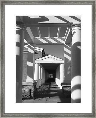 Lattice And Shadows Framed Print by Steven Ainsworth