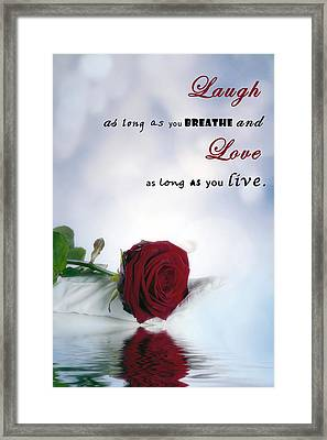 Laugh And Love Framed Print by Joana Kruse
