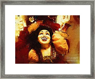 Laughing Gypsy Framed Print by Deborah MacQuarrie-Haig