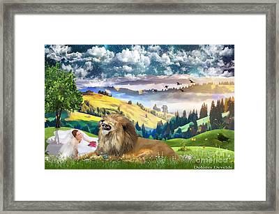 Laughing With The King Of Glory Framed Print by Dolores Develde