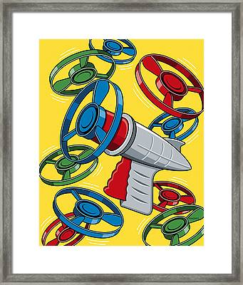 Launcher Gun Framed Print by Ron Magnes
