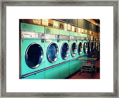 Shopping Cart Framed Print featuring the photograph Laundromat by Vivienne Gucwa