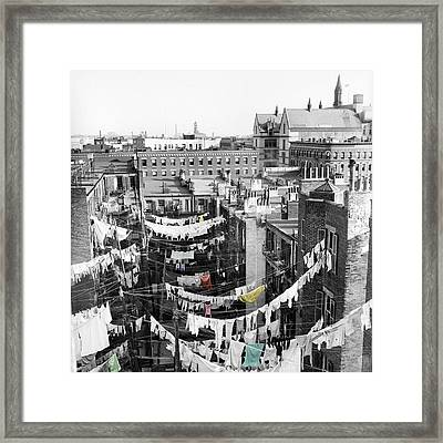 Laundry Day Framed Print by Andrew Fare