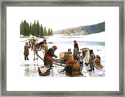 Laundry Day Framed Print by Curtis James