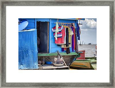 Laundry Day Framed Print by Georgia Fowler